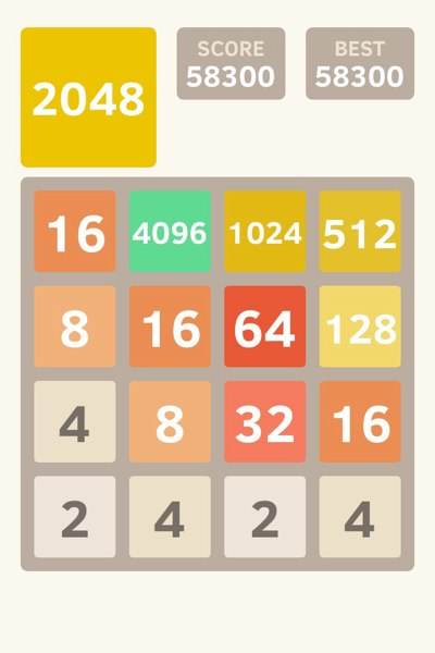 2048: Strategy to Get 4096 Tile in the Game