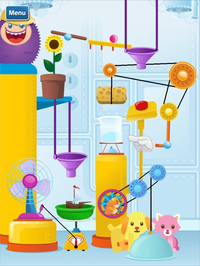 GazziliScience review - After finishing all the activities, you can collect parts to create a Gazzili contraption