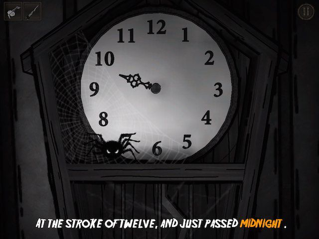You start to hear scary sounds at the stroke of midnight.