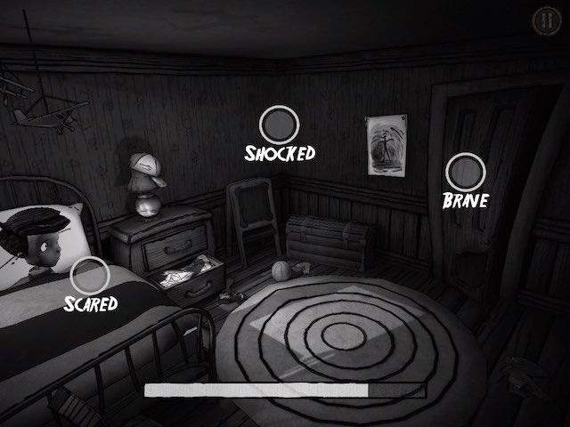 In the interactive mode, you can decide what to do when the scary things occur.