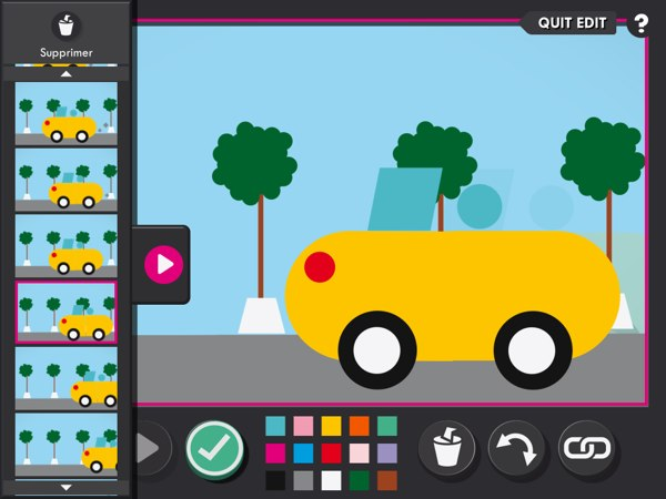 In Expert mode, you can edit and delete individual frames in your animation sequence.