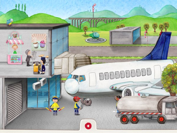 Help the stewardess get the passengers on board while keeping the airplane marshaller on their toes.