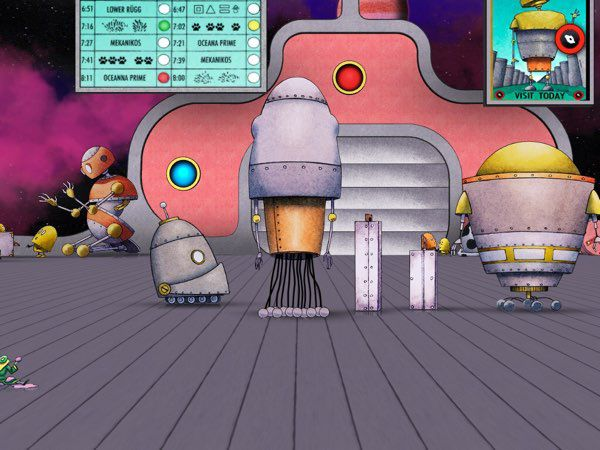 Space travel is just one of many cool things you can do inside David Wiesner's Spot.