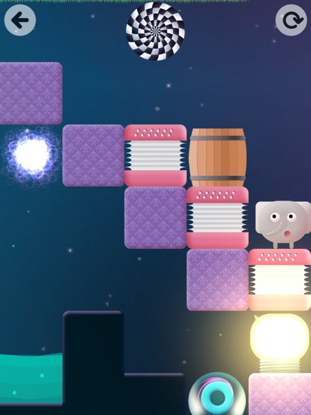 Thinkrolls 2 introduces new concepts such as teleportation and short-term memory.
