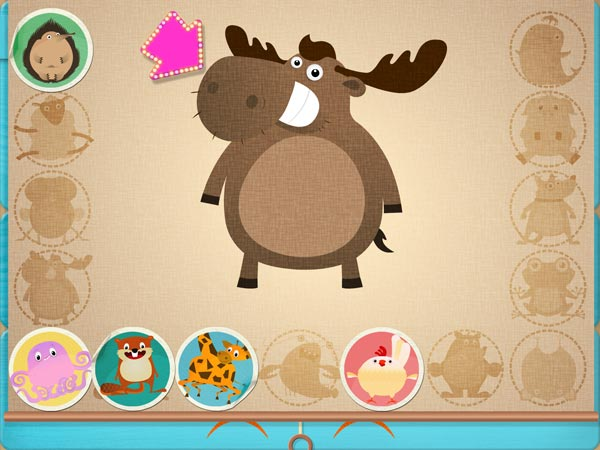While the app encourages free play, you can also earn stickers if you match animals that are randomly assigned to you.