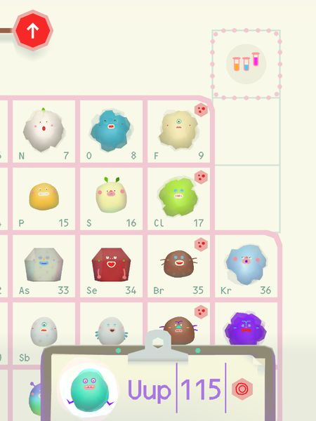 The elements are represented by adorable animated blobs