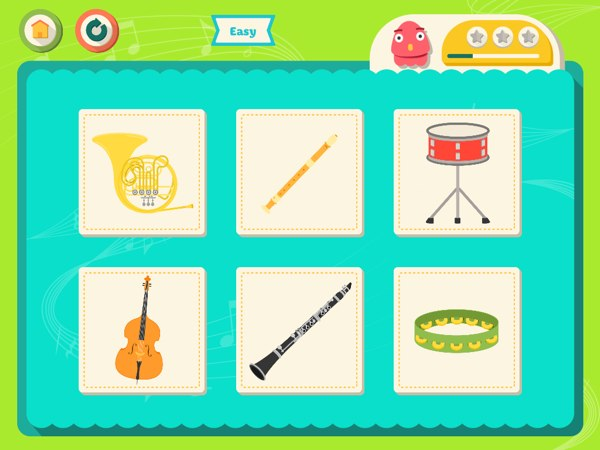 Guess which musical instruments make the sound you hear.