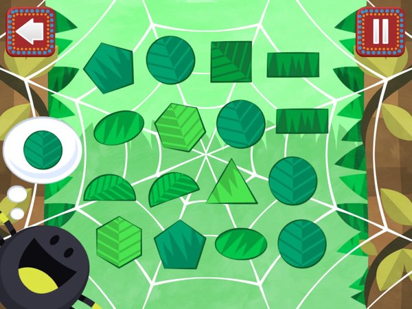 My favorite mini game in Pacca Alpaca is this spider shape game.
