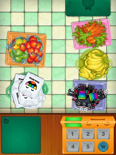 Toca Store Review - You can choose a wide range of items to sell - 5 of them at a time