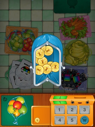 Toca Store Review - The coins in your purse determine how many items you can purchase. You always start with 10 coins.