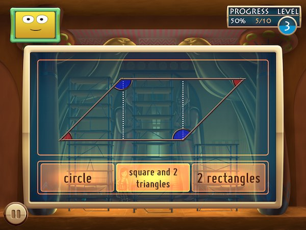 A set of story-based mini games are available, and each game has three levels of difficulty