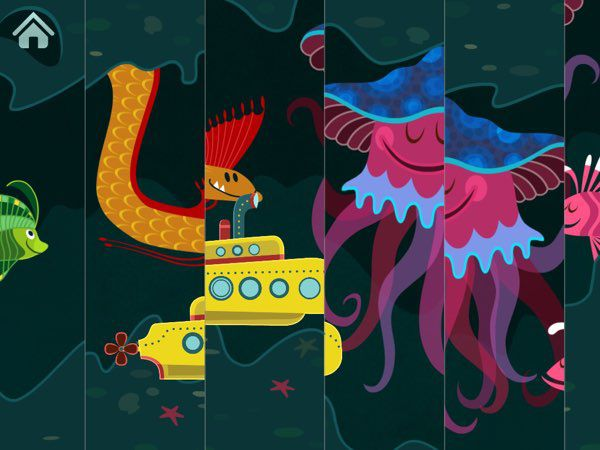 Sea Puzzles allows you to meet all kinds of sea creatures, including mythical ones.