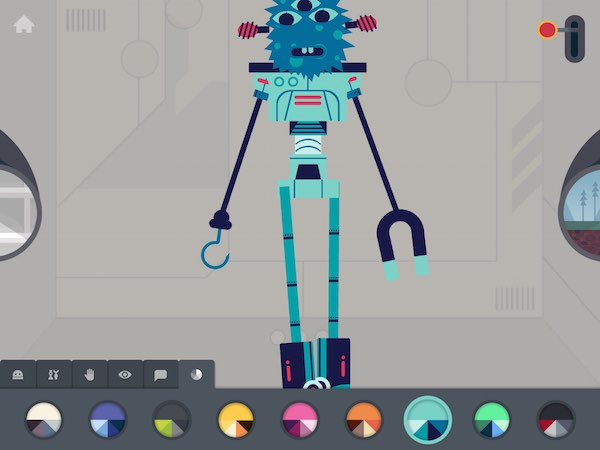 Customize your robot with unique body parts and colorful paint jobs