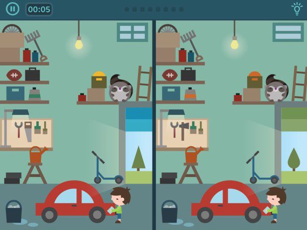 Toonia Differences uses familiar, homely settings, inspiring me to create a similar gameplay with my kids at home.