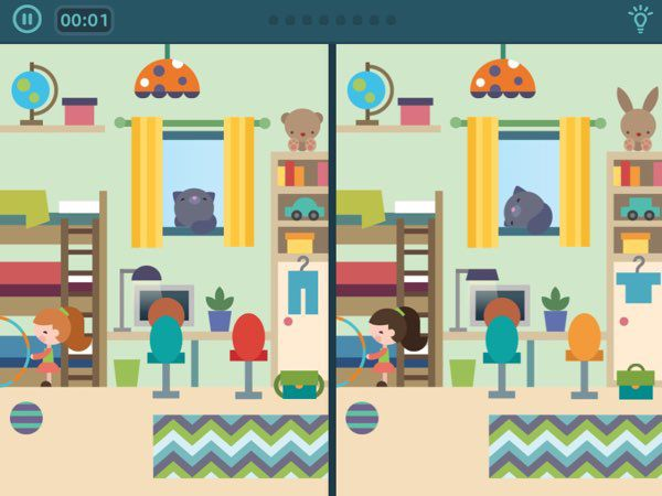 Each puzzle has more than eight differences that the game shows at random, thus the app has great replay value