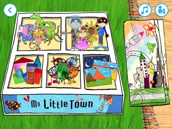 Select from six creative games and build your little town