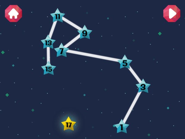 Possibly the best feature in Star Gurus is the ability to customize the numbers that will be shown in the puzzles -- allowing kids to learn simple skip counting.