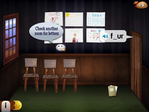 Complete words to unlock rooms and collect the gold in the spelling game Mystery Word Town
