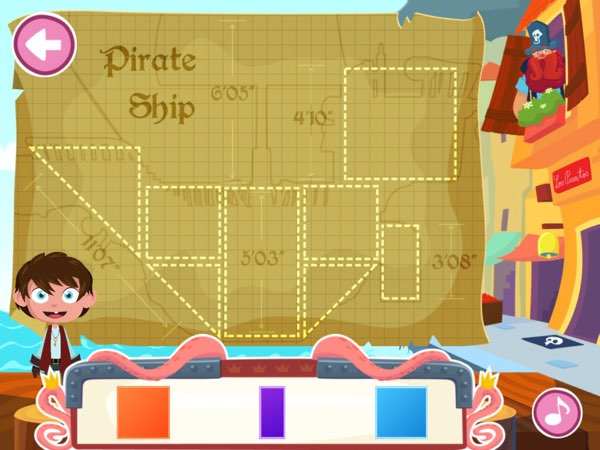 Combine basic shapes to build your own pirate ship.