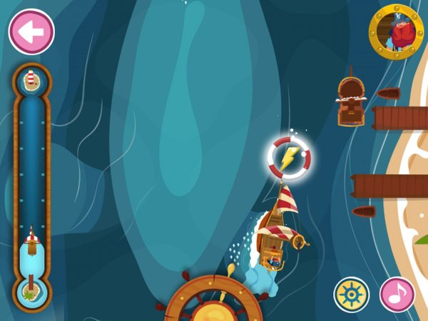 Tilt your iPad to steer the pirate ship away from all kinds of obstacles.