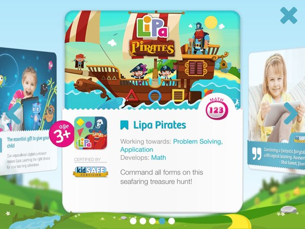 Lipa Pirates has one of the best looking parent zones on the App Store.