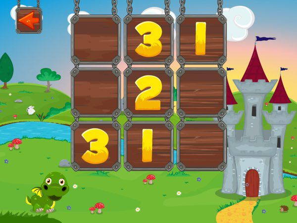 Sudoku - Dragon Adventure teaches kids the very basic rules of Sudoku starting from the 3x3 grid.