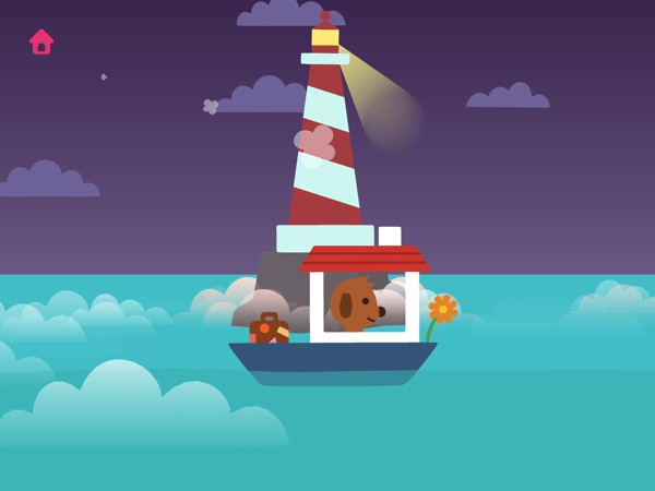 In Sago Mini Boats, kids tag along as Harvey sail across the sea to visit his friends