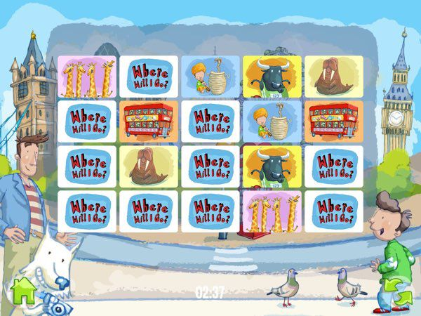 If you manage to find Westie the dog across all 24 pages of the book, you will unlock a memory matching game that feature snapshots from the book.