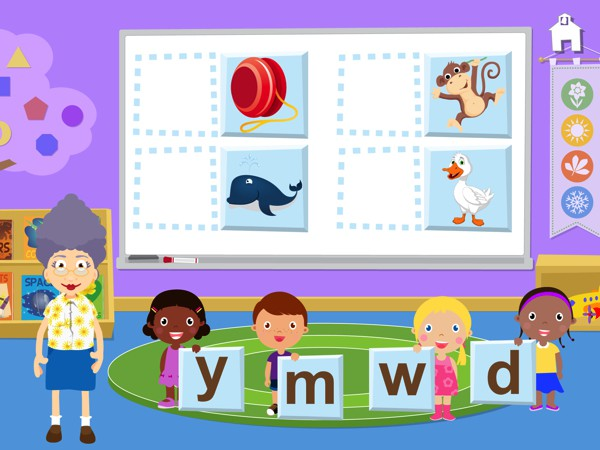 Grandma's Preschool app helps kids with basic skills and school readiness.