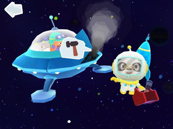 You're not really alone when you're in outer space. Lend a hand and help out fellow astronauts who are having problems with their spaceships.