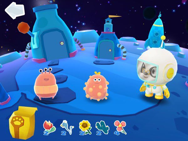 This brand new app from Dr. Panda introduces us to two cute aliens who love to eat all kinds of plants. Go ahead and give several to them, their reactions are really fun!