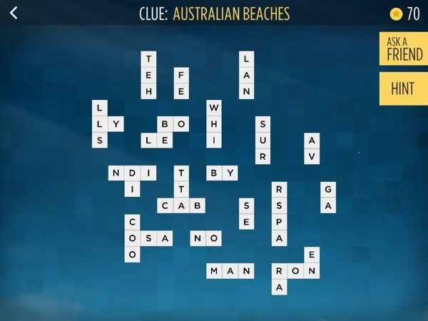 Bonza National Geographic also allows you to submit your own crossword puzzle designs, just like this one from a player who lives in Australia.