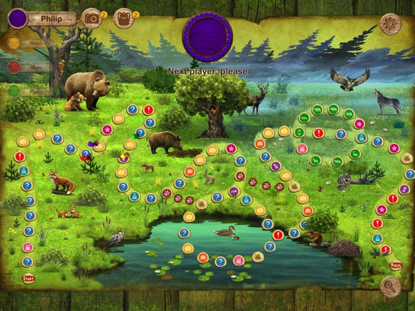 The game is playable by 2 to 4 players, or by a single player against the computer