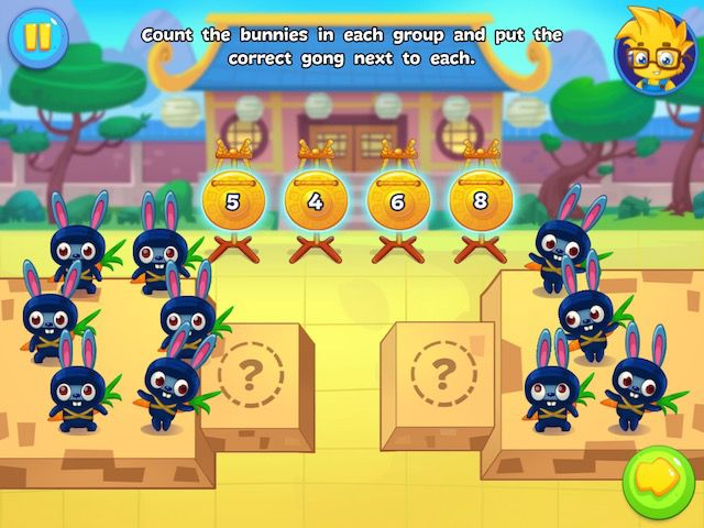 Numbie offers various game mechanics that will keep kids engaged as they learn.