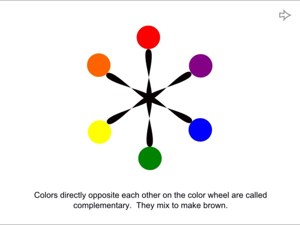 Mack Loves Color teaches kids about what a color wheel is and how it works.