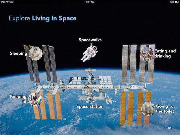 The book offers detailed explanation on various topics, including living in space