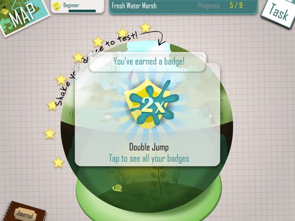 To keep things exciting, iBiome-Wetland includes systems for unlocking achievement badges and upgrading your personal ranks.