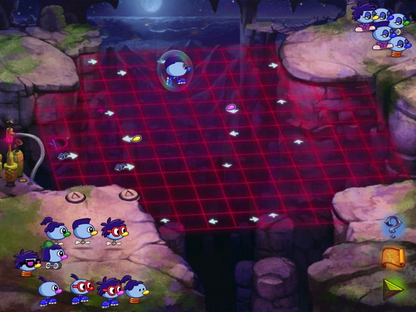 Help the Zoombinis get to safety by solving logic puzzles