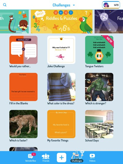 WonderBox allows kids to explore, create, and share with family and friends