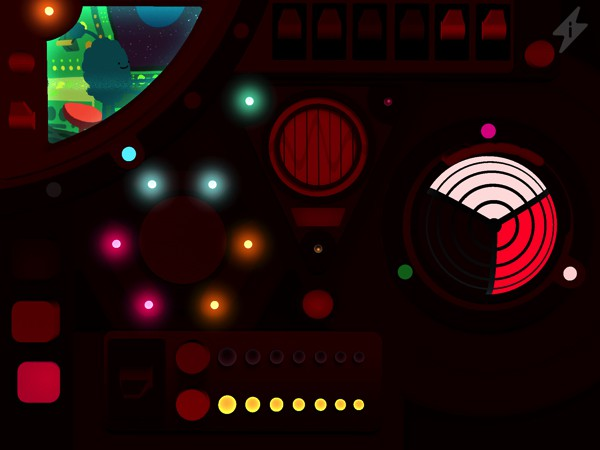 Gizmo's beautiful interface also hides lots of fun details, such as the crew camera on top and a thruster switch
