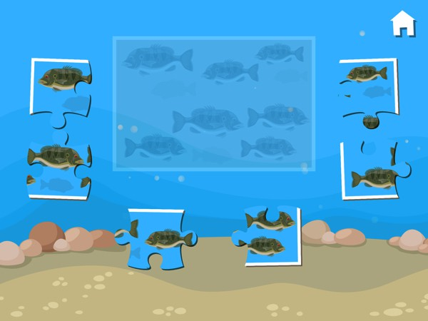 In all, the app has 11 educational games to play with, including this 6-piece jigsaw puzzle