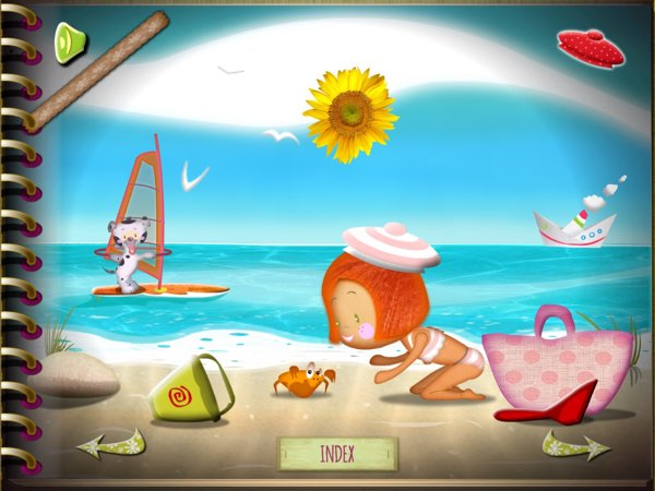 Rose Milany at the Beach is an interactive storybook app designed to help kids practice their reading comprehension skills.