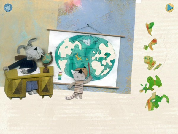 In Lucy & Pogo, Lucy the cat attempts to show that cats, just like dogs, do have a place in schools