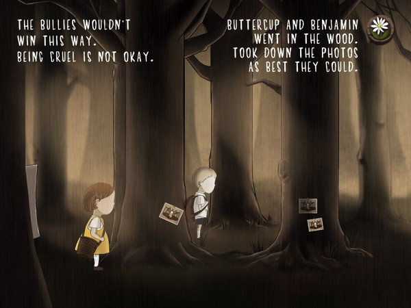 The story encourages children to reach out if they are bullied or if they know someone is being bullied