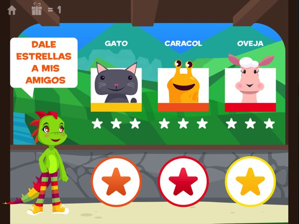 The app, fully narrated in Spanish, engages kids to learn the language