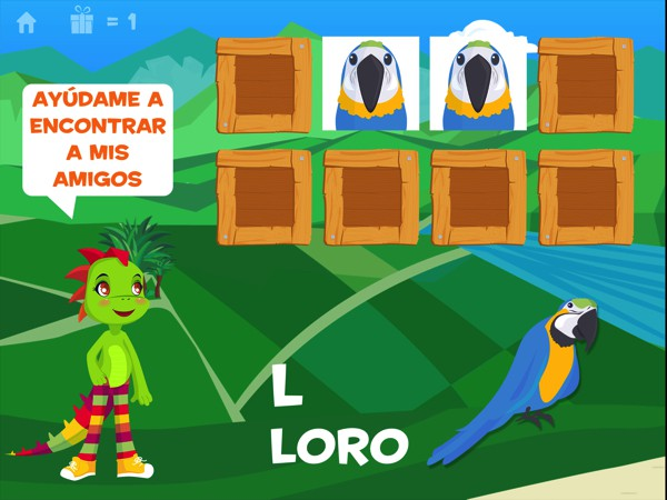 Learn the names of animals, colors, fruits and vegetables in Spanish