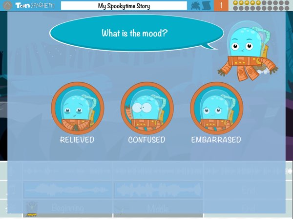 ToonSpaghetti also gives you questions that will help you understand the storyline and how it may affect someone's mood.