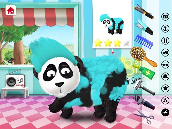Give the animals a makeover at Silly Billy - Hair Salon