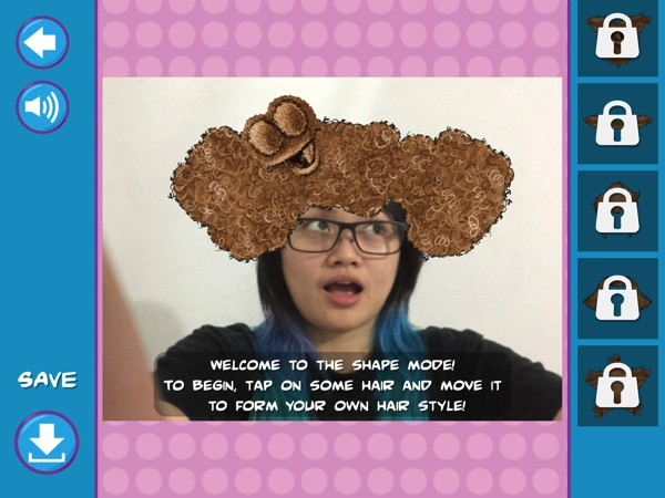 Use the in-app camera to give yourself, family, or friends your own magic poof