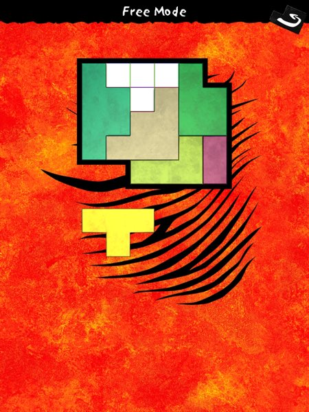 Ubongo offers thousands of Tetris-like puzzles in three single-player modes and one multiplayer mode.